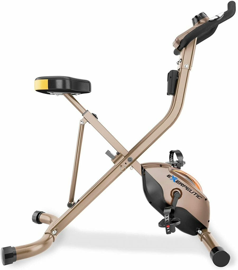 Exerpeutic Gold Heavy-Duty Foldable Bike for short persons