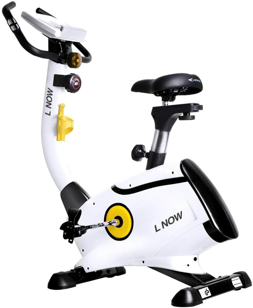 L NOW Upright Magnetic Exercise Bike