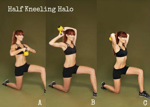 Half-Kneeling Halos