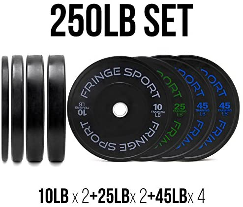 OneFitWonder Contrast Bumper Plate for home gym