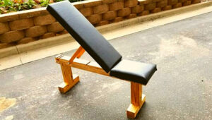 how to build a workout bench out of wood